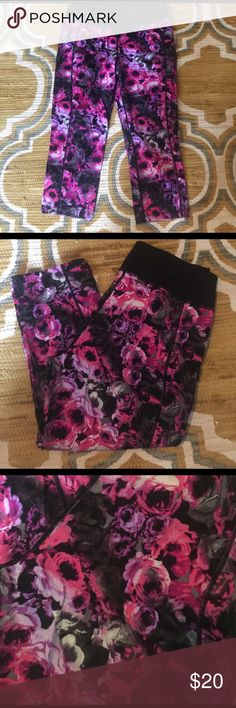 Betsey Johnson Performance capris Workout in style with these adorable capris! Great condition! Betsey Johnson Pants