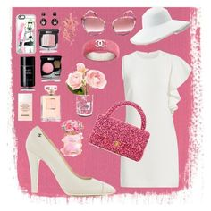 """Pink into Chanel💕"" by anastasia-toska on Polyvore featuring Casetify, Chanel, Elizabeth and James and Eric Javits"