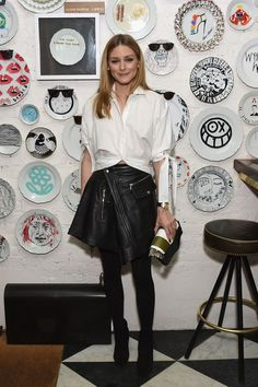 Olivia Palermo at Sant Ambroeus In SoHo