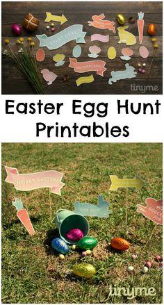 Easter egg hunt printables, great idea to make a simple Easter egg hunt trail