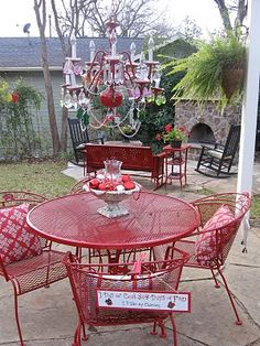 Not Big On The Chandelier, But I Think The Painted Wrought Iron Table U0026  Chairs