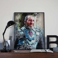 Stannis Baratheon  Game of Thrones Art Print by BlackSailsUK