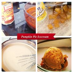 Pumpkin Pie Icecream with candied ginger. Make the icecream base mixing with pumpkin puree and pumpkin pie spice. Served with wholegrain biscuit. Pumpkin Pie Spice, Pumpkin Puree, Icecream, Biscuits, Spices, Base, Kitchen, Desserts, Food