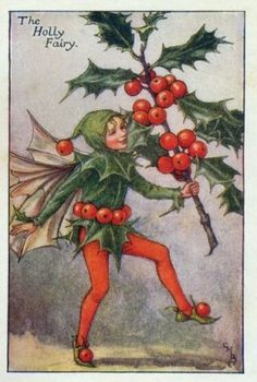 """""""the holly fairy"""" by cicely mary barker"""