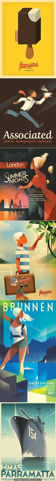 vintage illustrations from Mads Berg - created via http://pinthemall.net