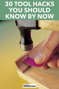 30 Tool Hacks You Should Know By Now Make your tools more versatile with these amazing hacks. Awesome Woodworking Ideas, Best Woodworking Tools, Woodworking Techniques, Woodworking Projects Diy, Canadian Woodworking, Handyman Projects, Rockler Woodworking, Popular Woodworking, Ikea Hacks