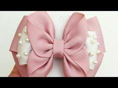 Pink Hair Bows, Baby Hair Bows, Ribbon Hair, Ribbon Bows, Diy Lace Ribbon Flowers, Fancy Bows, Toddler Hair Clips, Hair Bow Tutorial, Boutique Hair Bows