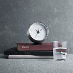 Georg Jensen's Henning Koppel alarm clock is a fine combination of Danish functionality and style. Designer legend Henning Koppel's clocks were published already in and due to their timeless elegance, the clocks were later re-introduced by Georg Jensen. Fancy Houses, Telling Time, Marimekko, Timeless Elegance, Cool Gadgets, Interior Design Inspiration, Scandinavian Design, Alarm Clock, Georgia