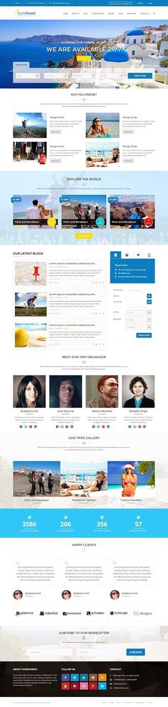Fresh Travel and Tourism Bootstrap Template 2015 Travel Agency Website, Travel Website Design, Travel Design, Amazing Website Designs, Website Design Inspiration, Design Ideas, Website Layout, Web Layout, Creative Web Design