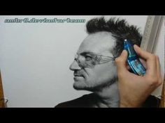 Pencil Illustrations by Franco Clun: Bono [timelapse video]