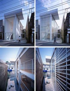 Glass Shutter House, by Shigeru Ban