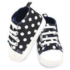 >> Click to Buy << 0-24 Month Infants Baby Polka Dot Print Cotton Shoes Laces Crib Shoes Prewalker #Affiliate