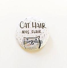Kat Pin Pinback knop Pin Cat Lady Cat Gift door WaterStreetDesign
