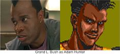"""Grand L. Bush as Adam Hunter. Why not? He was perfect as Balrog in """"Street Fighter"""". I think he would made a great Adam Hunter in the Streets Of Rage movie. Adam Hunter, Balrog, Beat Em Up, Street Fighter, Tv Shows, Actors, Movies, Films, Film"""