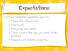 What the Teacher Wants!: Monday Management - Expectations