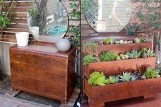Repurposed Furniture Garden - 40 Genius Space-Savvy Small Garden Ideas and Solutions