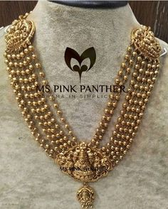 Heavy Gold haram with lakshmi pendant Gold Jewellery Design, Gold Jewelry, Antique Gold, Antique Jewelry, Gold Haram, Pink Panthers, Temple Jewellery, Indian Jewelry, Wedding Jewelry