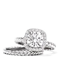 David Yurman engagement ring <3. Obsessed! This is one of my favorites :)