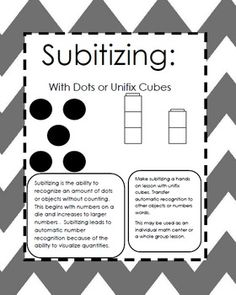 I use the dot cards during every morning meeting! Subitizing naturally supports a strong sense of numbers. Subitizing With Dots or Unifix - Carol Redmond - TeachersPayTeachers.com