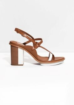 & Other Stories | Two Tone Heeled Sandals