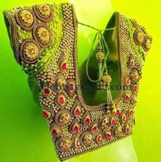 Jewellery Work Saree Blouse | Saree Blouse Patterns