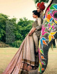 The Sabyasachi Indian bride and groom as represented by Vogue India. #Bridelan #Sabyasachi #sabyasachiweddinglehenga