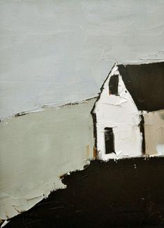 Sandra Pratt White Barn A very sensitive and simple rendering with good composition. Really appreciate the honesty of this artist. Landscape Art, Landscape Paintings, Modern Art, Contemporary Art, Illustrations, Illustration Art, White Barn, Art Abstrait, Love Art