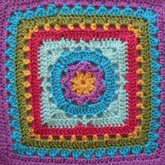 Crochet Squares Block 21 Winter Dream April Moreland Photo Tutorial Block a Week CAL 2014 Crochet Squares Afghan, Granny Square Crochet Pattern, Crochet Blocks, Crochet Stitches Patterns, Crochet Granny, Crochet Motif, Stitch Patterns, Knitting Patterns, Granny Squares
