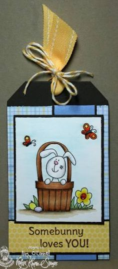 Easter Bunny Boy Tag by MrsOke - Cards and Paper Crafts at Splitcoaststampers