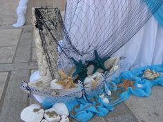 ΣΤΟΛΙΣΜΟΣ ΒΑΠΤΙΣΗΣ ΕΚΚΛΗΣΙΑΣ ΓΙΑ ΑΓΟΡΙ - ΝΑΥΤΙΚΟΣ - ΤΟΥΜΠΑ- ΚΩΔ.: THA445 Nautical Party, Christening, Glass Vase, Baby Shower, Wreaths, Wedding, Products, 15 Years, Weddings