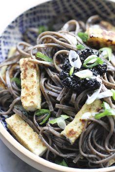 Black Sesame Soba Noodle: Flour.ish.en Test Kitchen