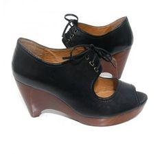 BarefootTess.com Miz Mooz 'Patricia' Wedge (Black)