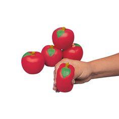 Apple-Shaped Stress Toys - OrientalTrading.com