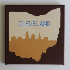 Cleveland CLE Ohio Cleveland Skyline Cavs by fiberandgloss on Etsy