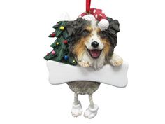 """Australian Shepherd Ornament with Unique """"Dangling Legs"""" Hand Painted and Easily Personalized Christmas Ornament * You can get additional details at the image link."""