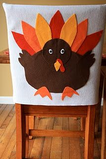 thanksgiving turkey chair cover-- maybe use the turkey on something else- a door...