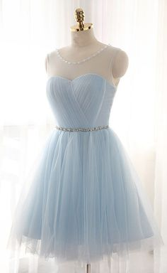 Tulle prom dress,Short Prom Dresses,Charming Homecoming Dresses,Homecoming Dresses,sky blue prom dress,short prom dresses