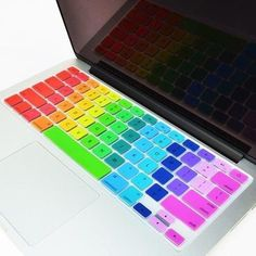"""Rainbow 14 Colors  Keyboard Cover for Macbook 13"""" 15"""" 17"""""""