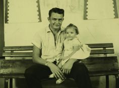 Rosanne Cash, seen here in 1956 with her dad Johnny, is one of many musicians featured in Oxford American magazine's winter issue on the mus...
