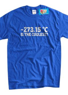 Temperature 273.15 Is the Coolest Screen Printed by IceCreamTees, $14.99