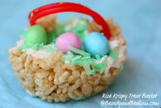 Rice Krispy Treat Basket