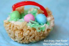 rice krispie treat Easter baskets