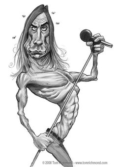 Flashback Sketch Friday- Iggy Pop!