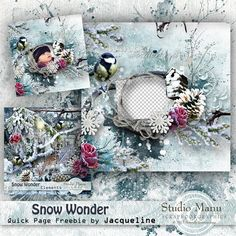 Scrapbooking TammyTags -- TT - Designer - Studio Manu,  TT - Item - Quick Page, TT - Theme - Winter or Snow