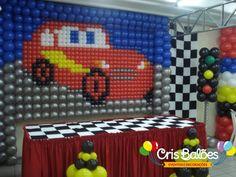 Carros Decoração Festa Infantil Curitiba - Cris Balões