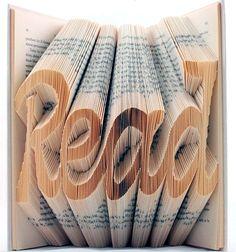 read - paper art