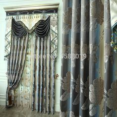 2015 new design tulle, sheer and cloth for the bedroom European  customized chenille blackout curtains for the living room
