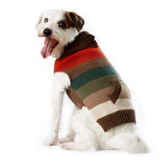 Wag-A-Tude+Multi+Stripe+Gentleman+Split+Neck+Sweater+-+Wag-A-Tude+Multi+Stripe+Gentleman+Split+Neck+Sweater,+XXLarge - http://www.petco.com/shop/en/petcostore/product/wag-a-tude-multi-stripe-gentleman-split-neck-sweater