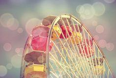 Ferris Wheel Photography 8 x 10 Home Decor Art Carnival Nursery Print Fair Pastel Wall Art