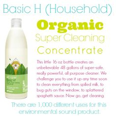 Basic H (Household), 1st a disclaimer, I do not sell Shaklee nor do I know the person who's blog that I linked, & my comments are re products, not business opps.   Love the product & have used them for years.   They are:  ENVIRONMENTALLY FRIENDLY, WORK GREAT, ECONOMICAL for almost all uses,  Less packaging in landfills, Less time buying & lugging products home & putting away, not sure of a down side once you find a way to buy, think you can get on line now.